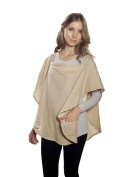 Poncho Baby Organic Nursing Cover, Oval Beige, Beige