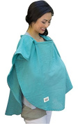 Poncho Baby Organic Nursing Cover, Oval Emerald Green, Emerald