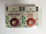 Variety Set of Beech-nut Single Grain Rice & Oatmeal Baby Cereal, 240ml Boxes [1 of Each]