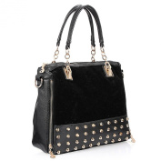 Sugawin Ladies Fashion Rivet PU Medium Shoulder Bag Satchel Handbag Purses Tote