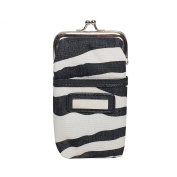Zarapack Women's Canvas Pu Leather Coin Purse Small Wallet 3 Style