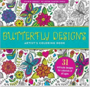 Butterfly Designs Artist's Coloring Book