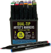 Studio Series Dual-Tip Alcohol Markers, Set of 24