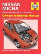 fits Nissan Micra Owner's Workshop Manual