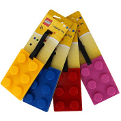 LEGO CLASSIC LUGGAGE BAG TAG BRICK SHAPE - Random Colour Provided