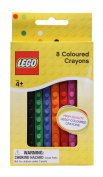 NZL LEGO BRICK SHAPED CRAYONS 8PK