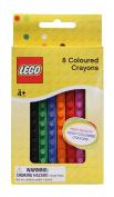 NZL LEGO BRICK SHAPED CRAYONS 8PK