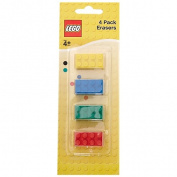 LEGO BRICK ERASERS 4 Pack - Random Colour Provided