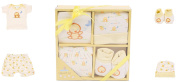 Big Oshi Layette Baby Gift Set, 4 Piece - Gift Boxed - Ready To Go - Perfect Baby Shower Gift - Yellow