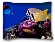 Decorative Standard Pillow Case Animals Coral Fish 50cm *70cm One Side