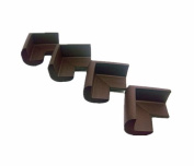 Viskey 4pcs/Set Baby Safety Rubber Foam Furniture Corners Guards Protector Brown 1set