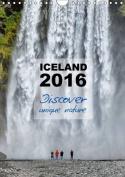 Iceland Calendar 2016 - Discover unique nature - UK Version 2016
