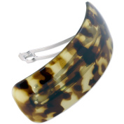 Ebuni | Large Curved French Rectangle Barrette for thick hair