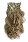 PRETTYSHOP XXL 60cm 130g Set 8 pcs Full Head Clip In Hair Extensions Hair piece Straight Or curled Heat-Resisting Div. Colours