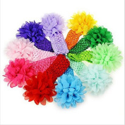 SMO 10 pcs Baby Girl's cute Elastic Headbands Flower Hair Accessories