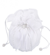 Flora Chiffon Girl Communion Dolly Bag/Bridesmaid Bridal Handbag,beads