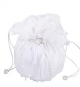 Flora Chiffon Girl Communion Dolly Bag/Bridesmaid Bridal Handbag,beads