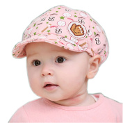 Cute Baby Beret Toddler Sun Protection Hat Infant Floppy Cap PINK Base Ball