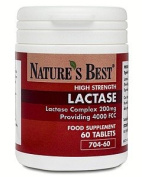 Lactase Tablets 4000 FCC - Fast acting and 100% UK-made, 60 tablets