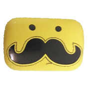 Viskey Cute Moustache Lens Case, Yellow