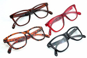 9130 Geek/Nerd Retro Fashion Large Framed Reading Glasses with 9 Lens Strength Variations Available In 5 Colours