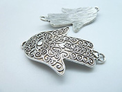 10pcs 33x53mm Antique Silver Lovely Beautiful Fatima Hand Charm Pendant C4454