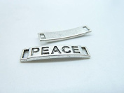 30pcs 6x27mm Antique Silver Lovely Thick Letter Peace Connector Link Charms Pendant C4005