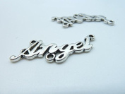 20pcs 16x35mm Antique Silver Lovely Filigree Word Angel Connector Link Charms Pendant B304