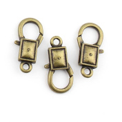 5 Pieces Jewellery Making Charms Square Lobster Clasps pendant wholesale supplies repair