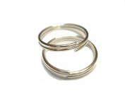 200pcs Firm Large Split Rings Fit For Scarf Jewellery, Silver 12mm, Gauge 20 US Seller Receive In 4 Days