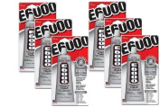 E-6000 Clear Industrial Adhesive Medium Viscosity Glue 110ml Package of 6