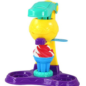 3D CreativeTwister Playset Clay Silly Putty Tools Mould Set Pretend Play Toy for Kids, Ice Cream