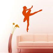 Wall Decals Ballet Dancer Dancing Ballerina Art Design for Dance Studio Physical Education Interior Home Decor Vinyl Decal Sticker ML61