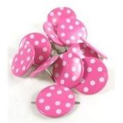 Pink Coloured Assorted Polka Dot Brads