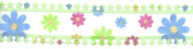 Intricate Sheer Multi Colour Flower Ribbon - 3.8cm Wide - Green - 5 Yards
