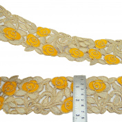 Indian Ribbon Decorative Craft Supply 7.8 Cm Wide Floral Sari Ribbon By The Yard
