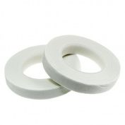 2 Pack White Floral Tape Stem Wrap 1.3cm X 30 Yards 50m Total Flower Tapes Made in USA