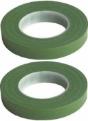 2 Pack Green Floral Tape Stem Wrap 1.3cm X 30 Yards 50m Total Flower Tapes Made in USA