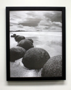 Golden State Art 16x 20 Black Picture Frame, 3.2cm Wide with Real Glass