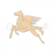 Pegasus Mythical Style 2197, Wooden Cutouts, Crafts Embellishment, Gift Tag or Wood Ornament