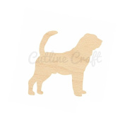 Bloodhound Dog Style 866, Wooden Cutouts, Crafts Embellishment, Gift Tag or Wood Ornament