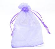100pcs Jewellery Lavender Organza Drawstring Gift Bags 8.9cm x 12cm