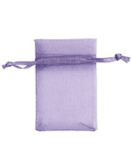 Count of 10 New Retail Lavender Organza Bags 5.1cm W x 7.6cm H