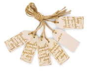 Mud Pie Wood Thanks Tags Set