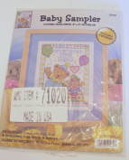 Two Teddy Bear Clowns with Balloons Counted Cross Stitch Baby Sampler