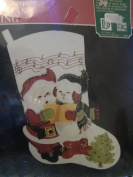 Felt & Sequin Christmas Stocking Carolling 9706 Designs for the needle 41cm
