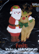 Titan Needlecraft * Felt Wall Hanging * Christmas Santa and Reindeer * No 262