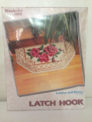 Latch Hook Rug Kit by Caron Lattice and Roses 4778 43cm x 80cm