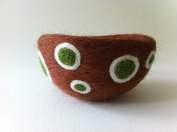 Purl & Loop Needle Felted Bowl Kit-Chocolate Olives