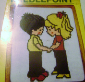 Vintage 1982 MH Yarns Needlepoint Boy and Girl Together 8 X 10